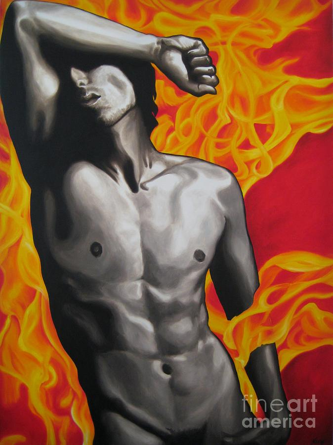 Oil Painting - HOT by Jindra Noewi