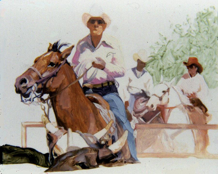 Rancher Painting - Hot n Dusty by Betty Jean Billups