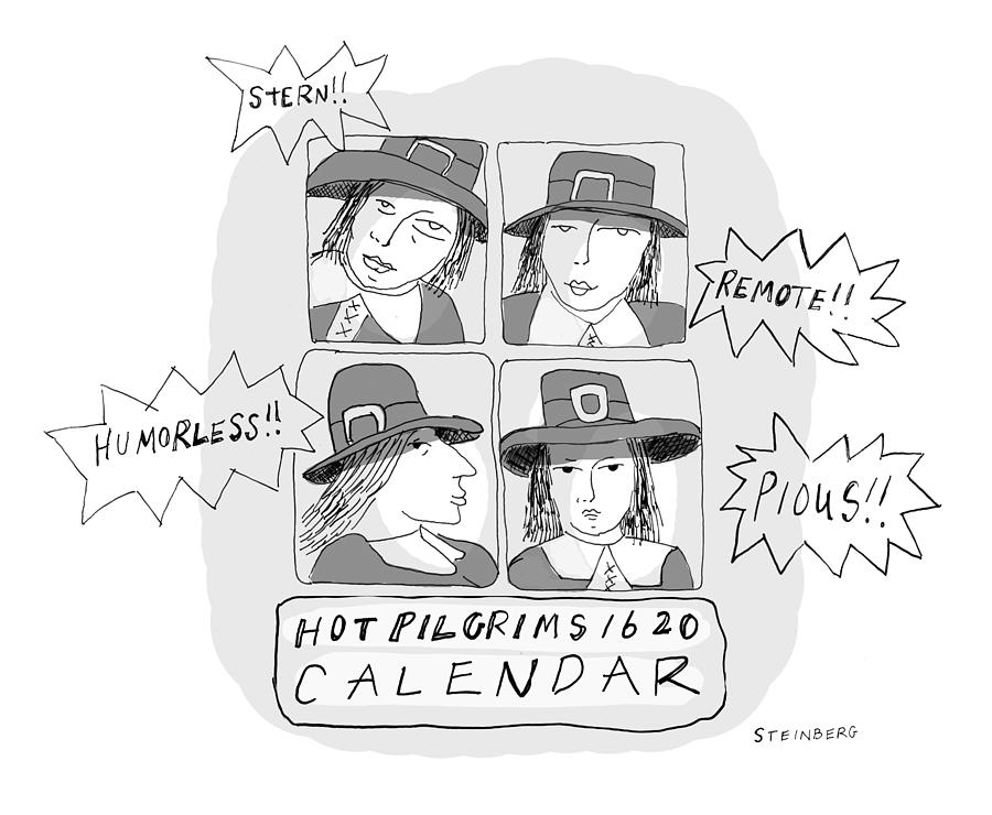 Hot Pilgrims 1620 Drawing by Emily Steinberg