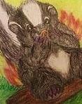 Hot Skunk Embarrassed Illustration Drawing