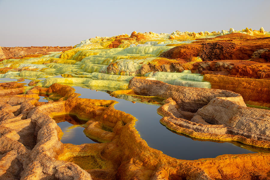 Hot Springs In The Danakil Depression Photograph by Wysiati