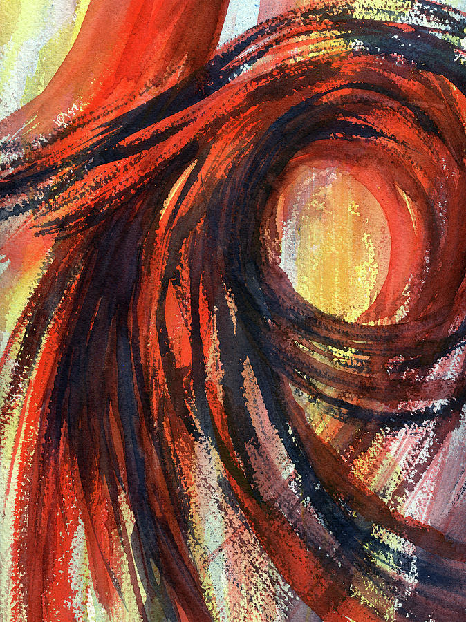 Hot Wind - Abstract Watercolor Painting