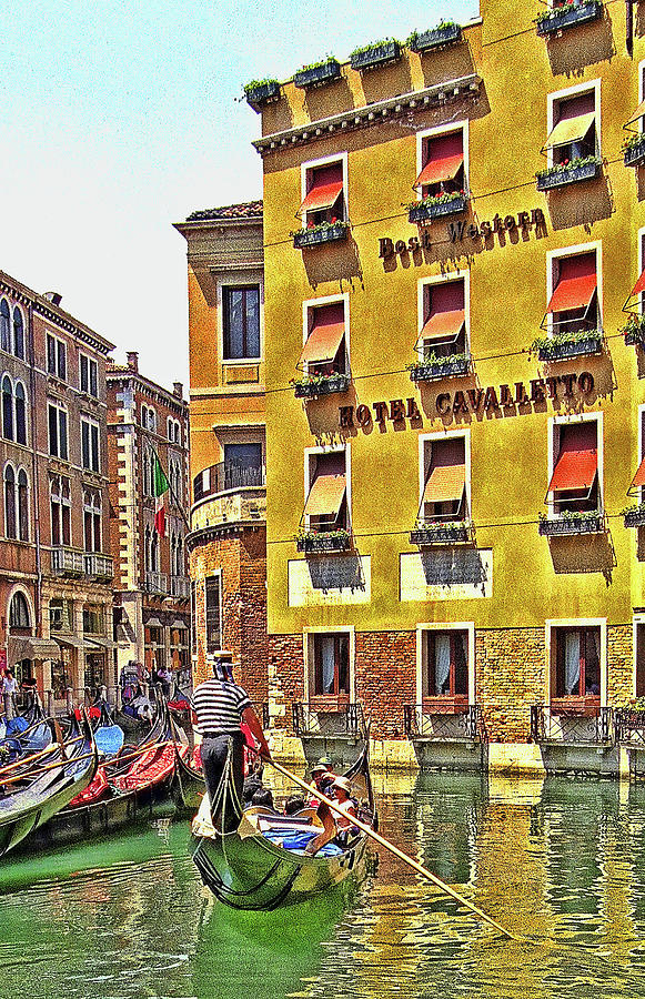 Hotel Cavalletto On The Canal Photograph