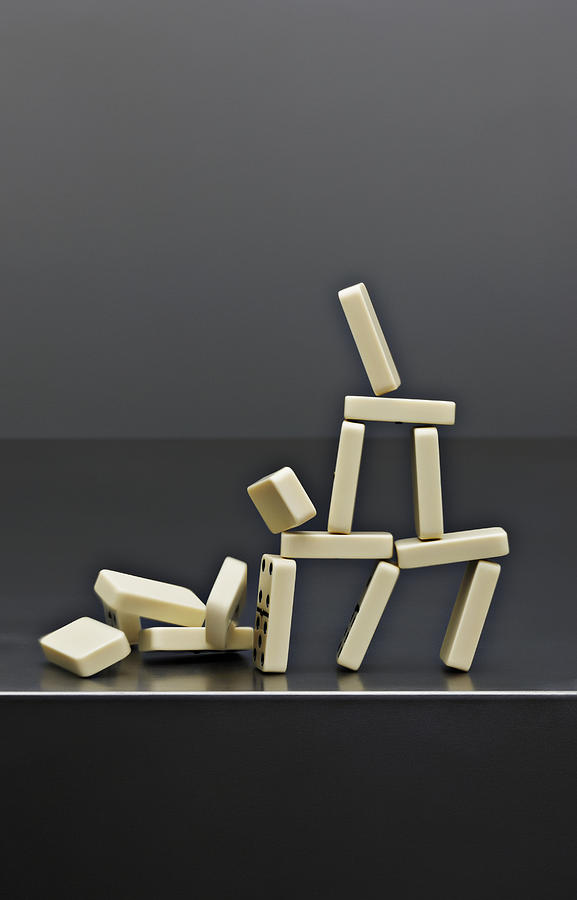 House Dominos Falling Photograph by David Muir