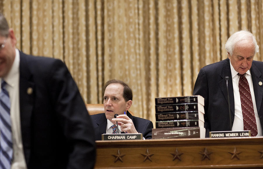House Holds Hearing On Current Federal Income Tax Structure Photograph by Brendan Smialowski