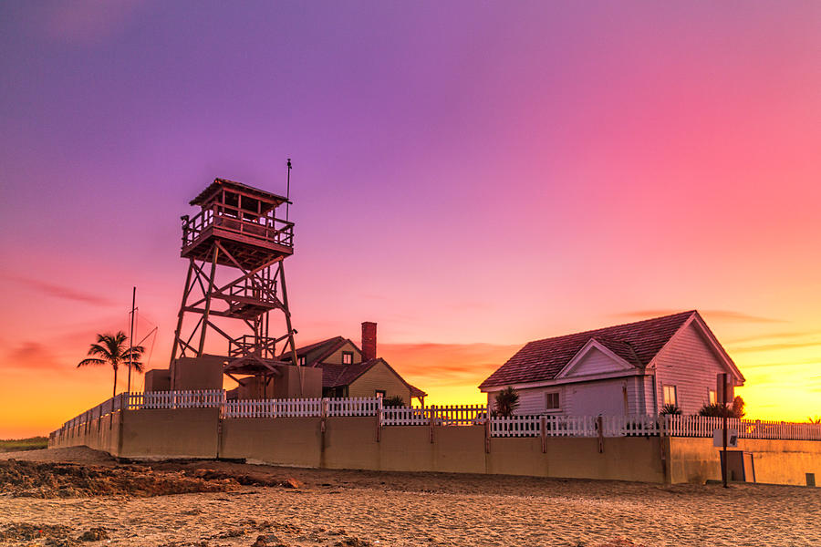 House of Refuge at Sunset by Fran Gallogly