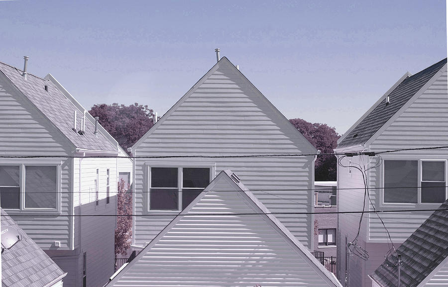 houses, chicago - Surreal Art by Ahmet Asar Digital Art