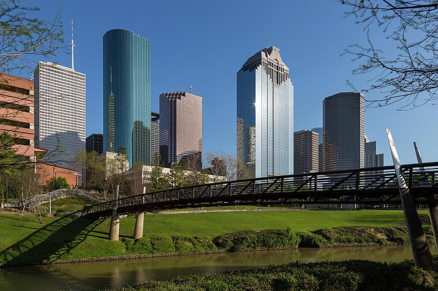 Houston Skyline by Buffalo Bayou by Tim Stanley