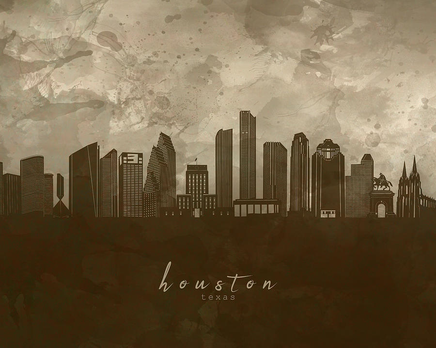 Houston Skyline Panorama 4 Digital Art