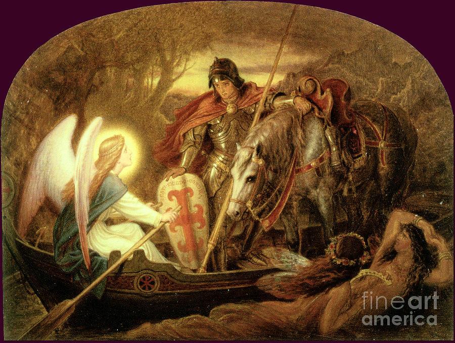 How An Angel Rowed Sir Galahad Across The Dern Mere 1888 Painting