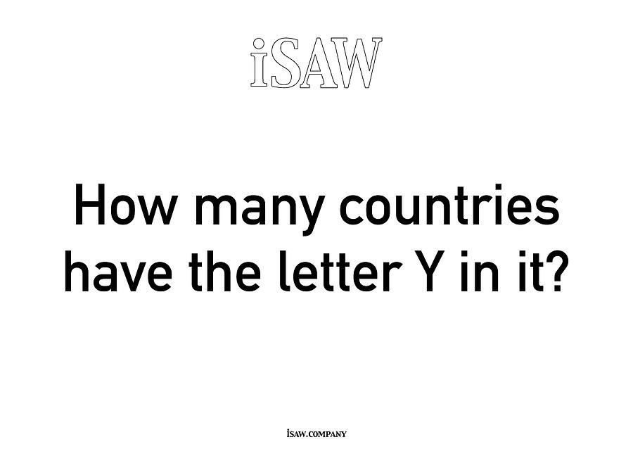 How Many Countries Have The Letter Y In It White Digital Art