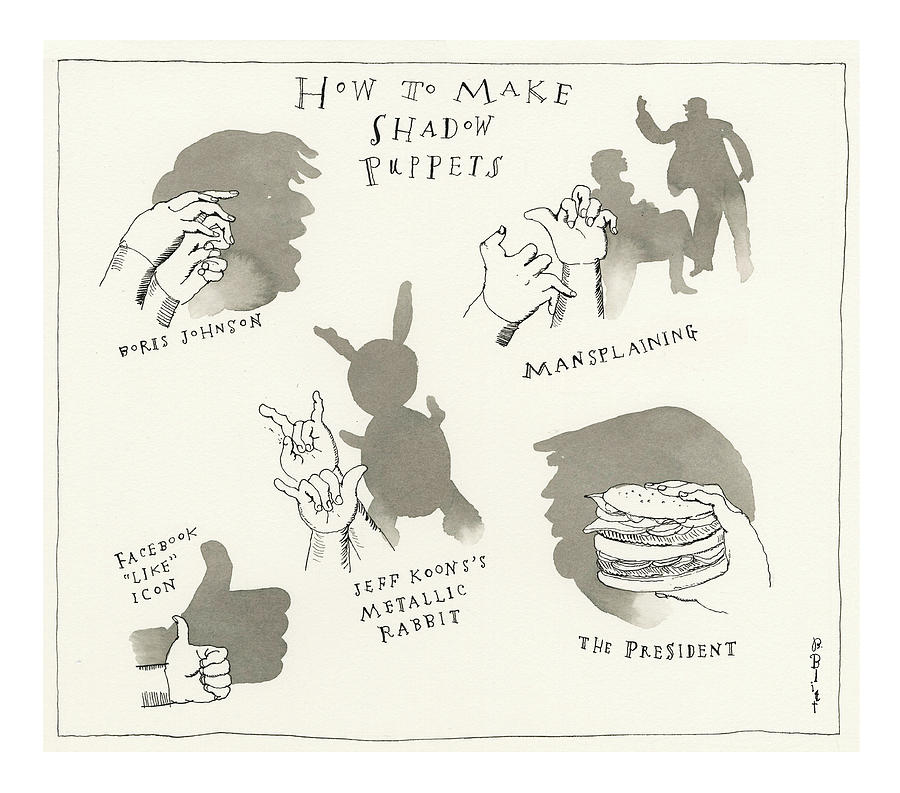 How To Make Shadow Puppets Painting by Barry Blitt