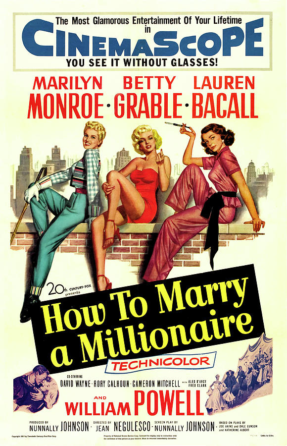 how To Marry A Millionaire Poster Mixed Media