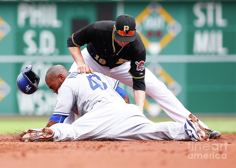 Howie Kendrick And Neil Walker Photograph by Jared Wickerham