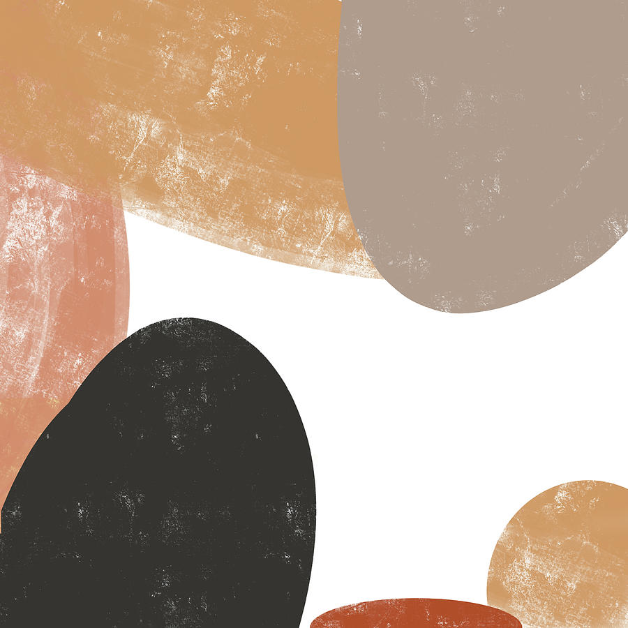 Hues Of The Earth 3 - Contemporary Abstract Painting - Minimal, Modern - Brown, Sienna, Umber, Tan Mixed Media