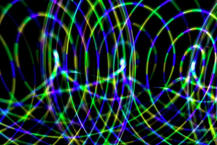 Light Photograph - Hula Hoop Abstract_04 by Jamie MacKenzie