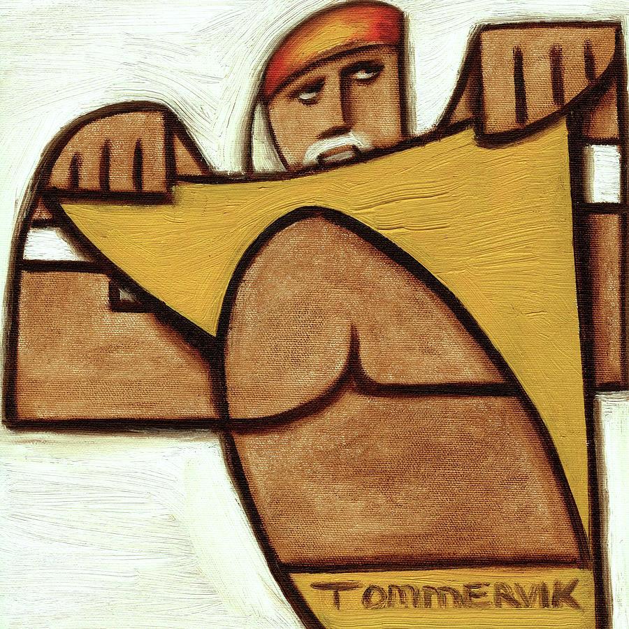 Hulk Hogan Painting - Hulk Hogan Taking Off His Shirt Art Print by Tommervik