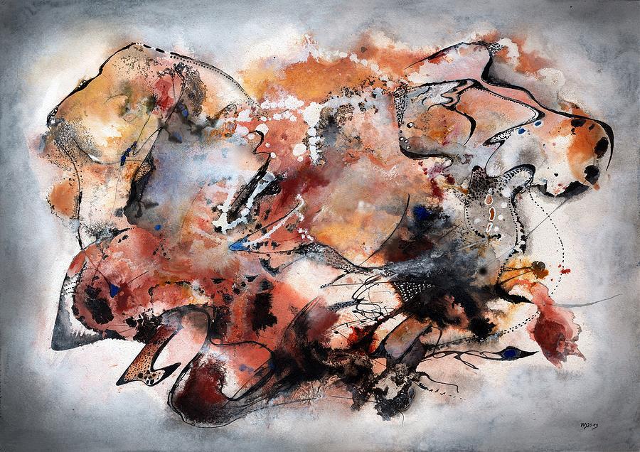 Abstract Ink Painting - Hulumbara Samban by Wolfgang Schweizer