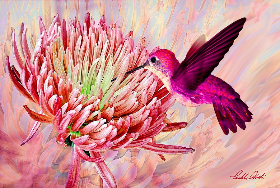 Hummingbird And Mum Painting