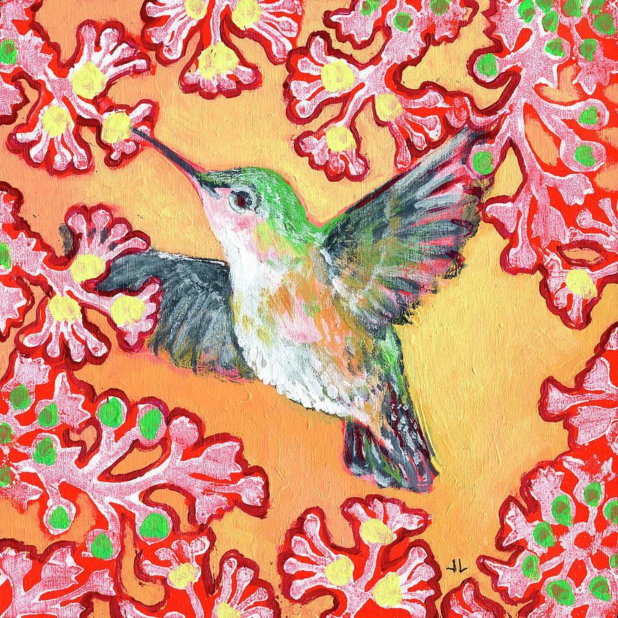Hummingbird In Flight Painting
