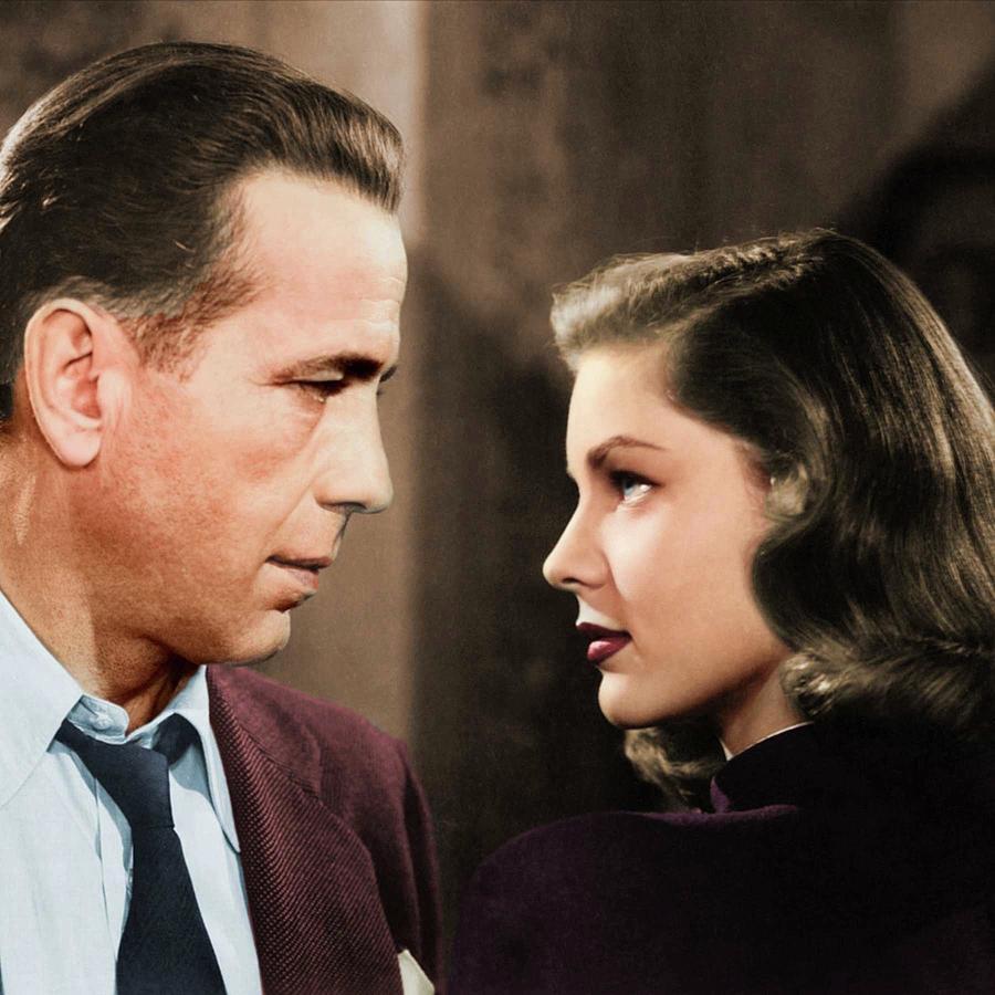 Humphrey Bogart And Lauren Bacall Colorized Photograph