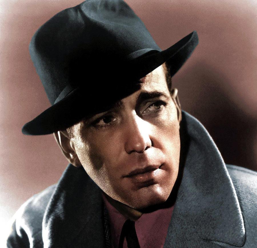 Humphrey Bogart Colorized Photograph
