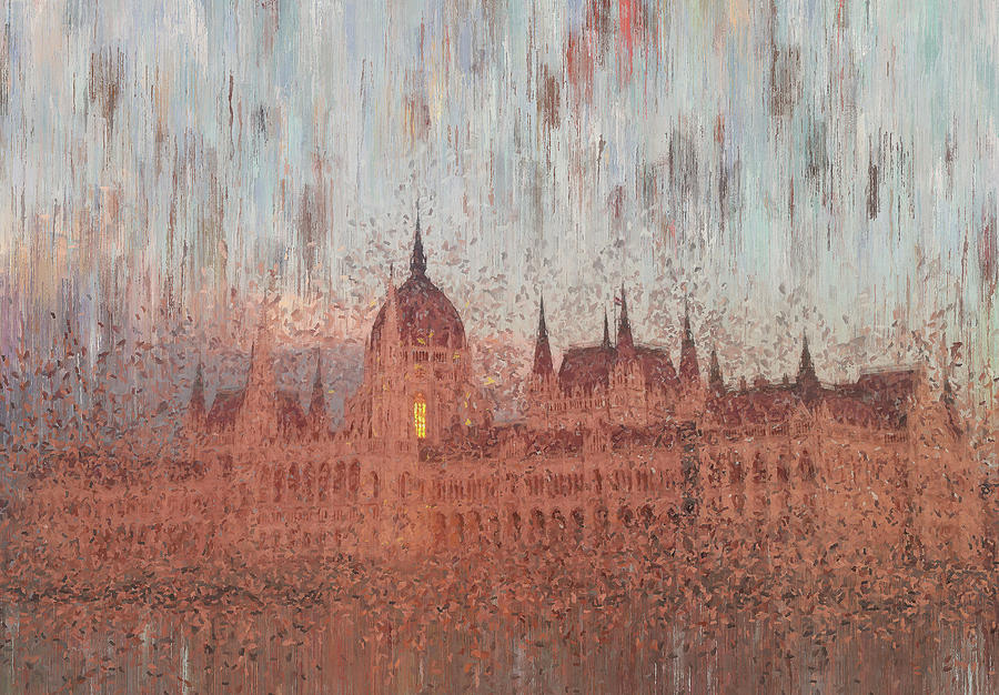 Budapest Digital Art - Hungarian Parliament Building by Alex Mir