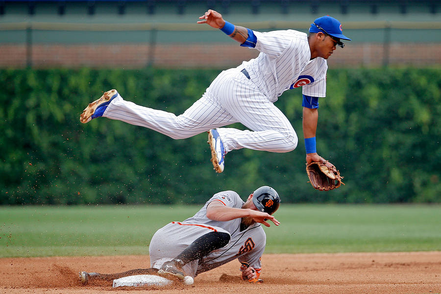 Hunter Pence And Addison Russell Photograph by Jon Durr