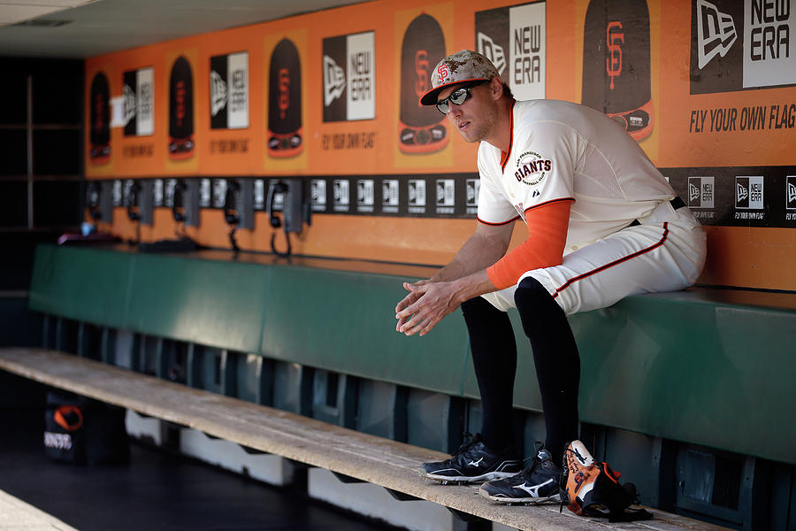 Hunter Pence Photograph by Ezra Shaw
