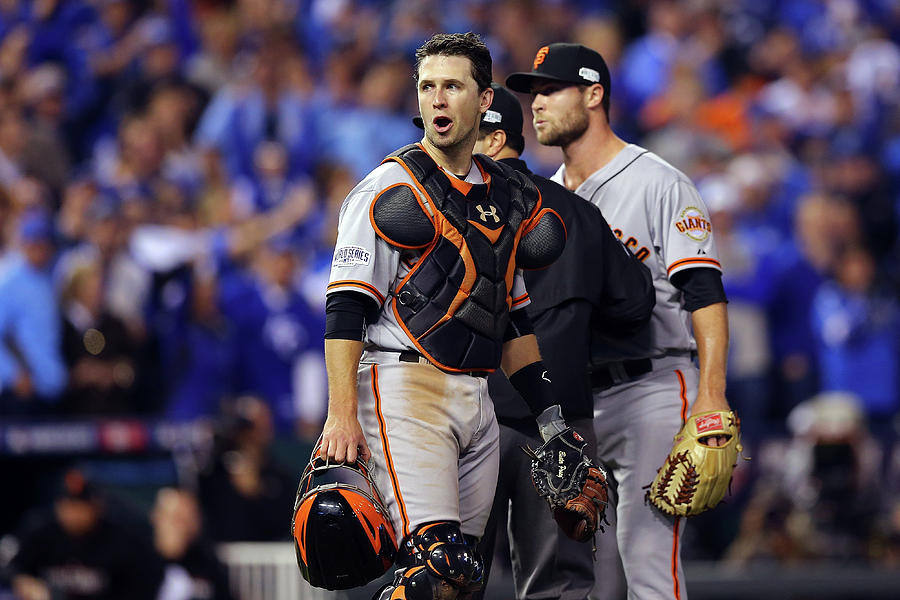 Hunter Strickland and Buster Posey Photograph by Elsa