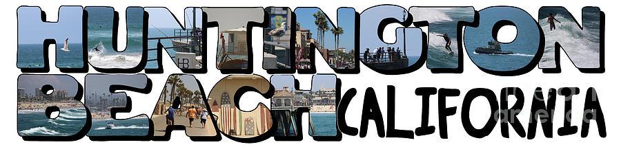 Huntington Beach California Big Letter by Colleen Cornelius