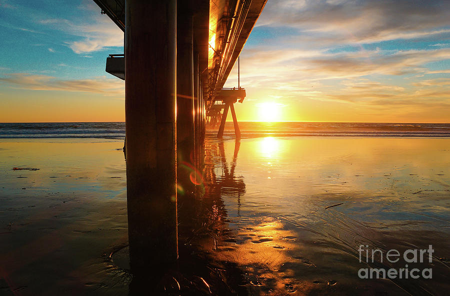 Pier Photograph - Huntington beach sunset by Micah May