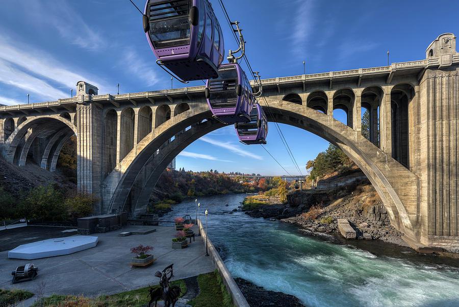 Huntington Park and Spokane River by Mark Kiver