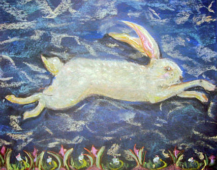 Hurried Hare Pastel
