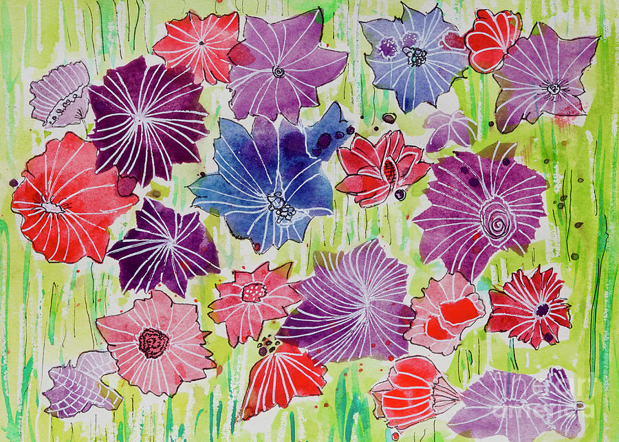 Hurry Spring- Abstract Floral Painting