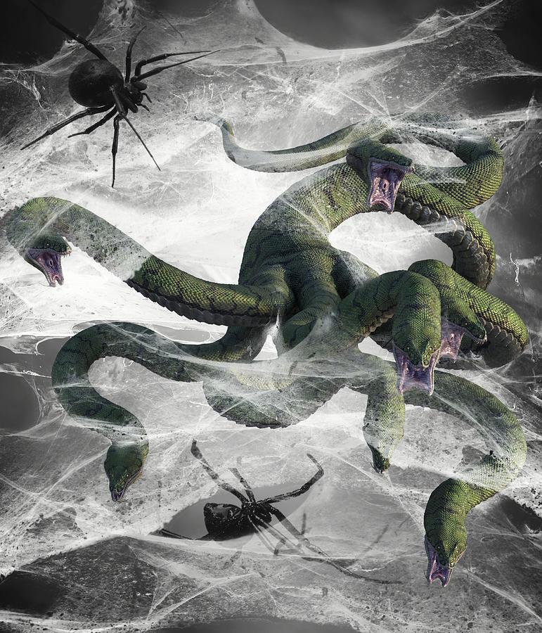 Hydra Snake Monster Fantasy 5 Digital Art