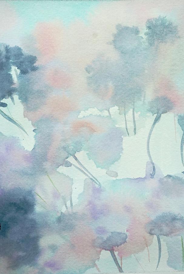 Hydrated Hydrangeas Painting