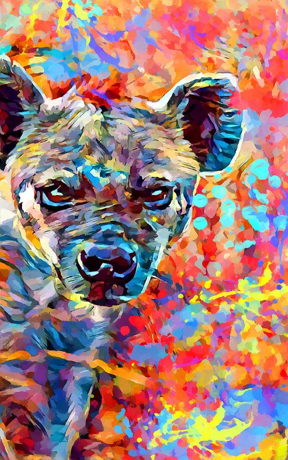 Hyena Painting - Hyena by Chris Butler