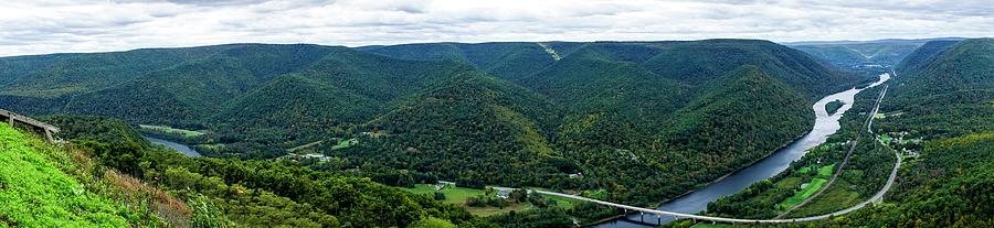 Color Photograph - Hyner view State Park by Kamie Stephen