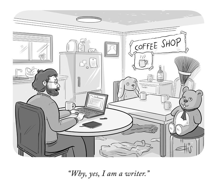 I Am a Writer Drawing by Ellis Rosen