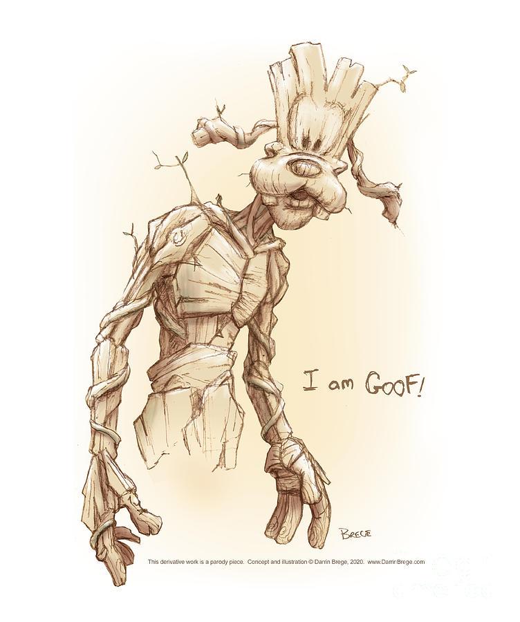 Goofy Drawing - I am Goof by Darrin Brege