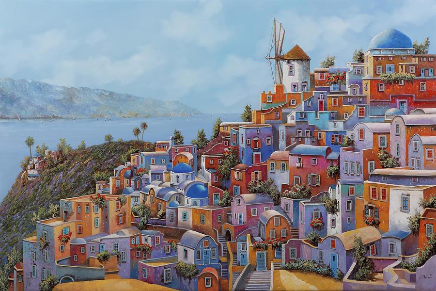 i colori caldi della Grecia Painting