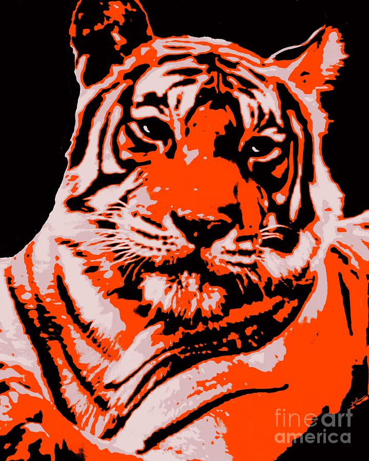 Tiger Painting - I Dare You by Jack Bunds