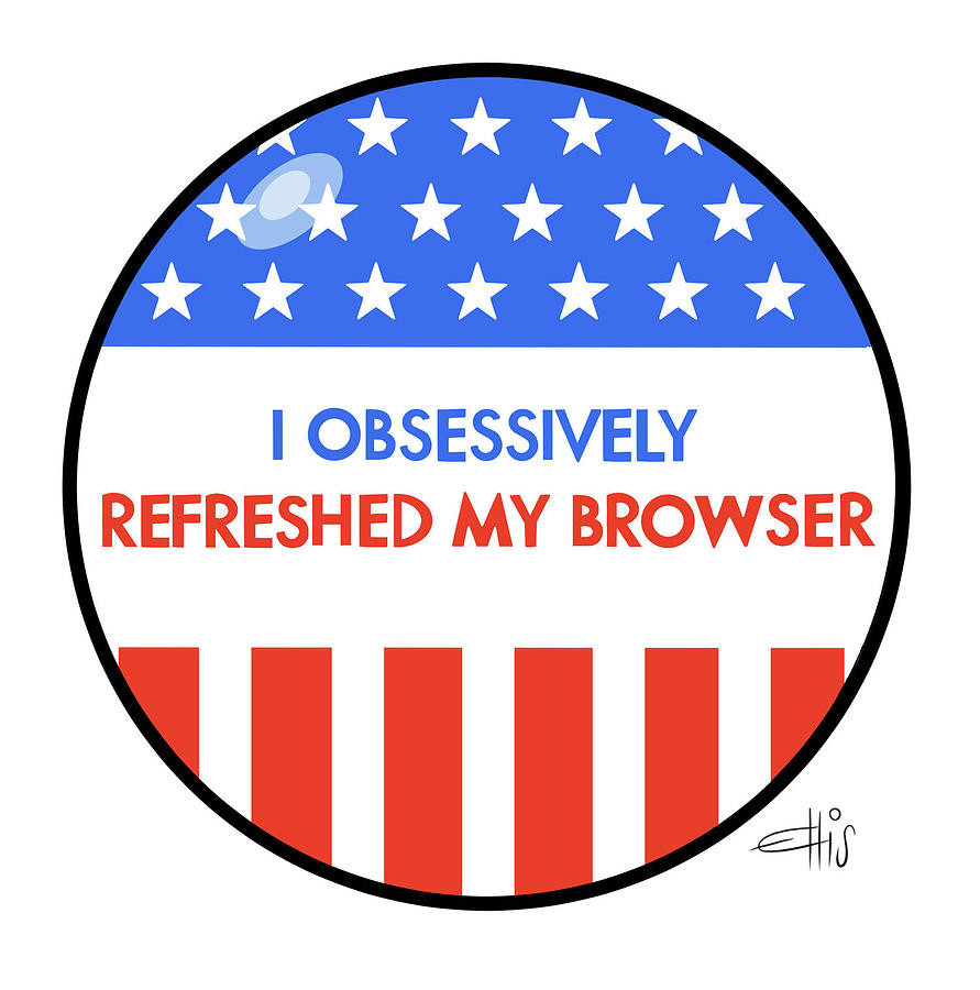 I Obsessively Refreshed My Browser Drawing by Ellis Rosen