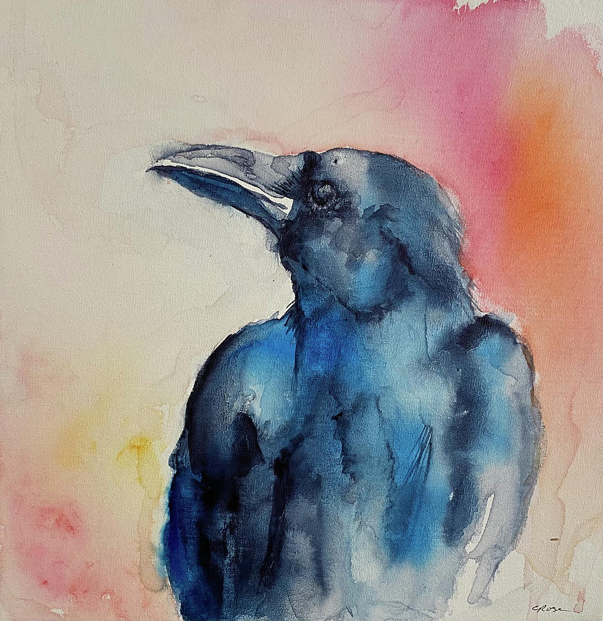 Raven Painting - I See You by Christine Marie Rose