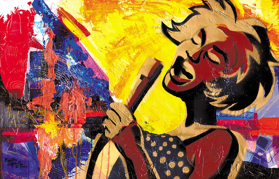 Cubism Painting - I Sings Da Blues by Everett Spruill