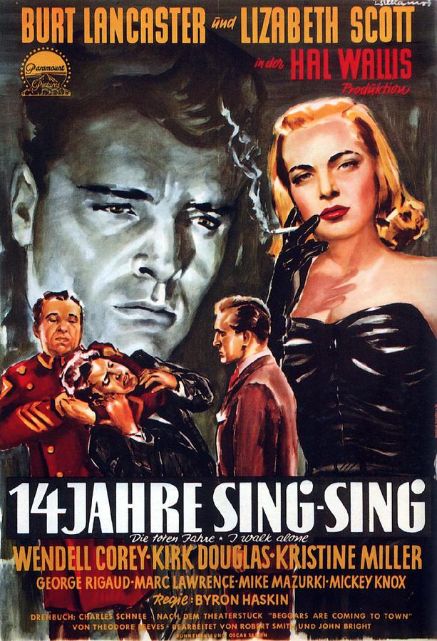 i Walk Alone, With Burt Lancaster And Lizabeth Scott, 1948 Mixed Media