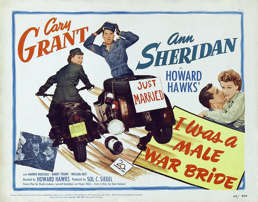 i Was A Male War Bride, With Cary Grant And Ann Sheridan, 1949 Mixed Media