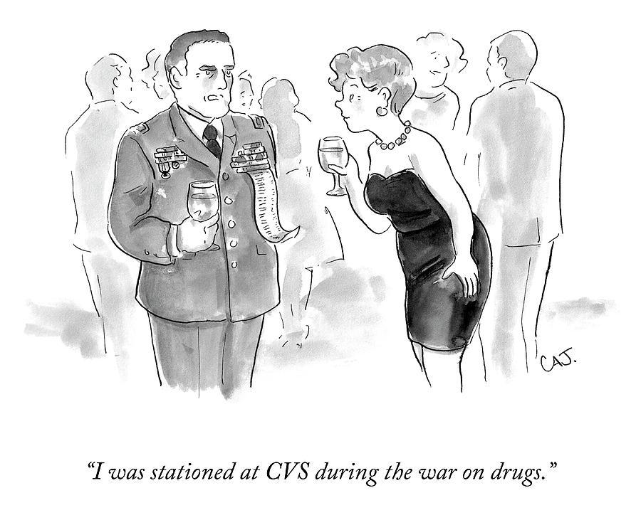 I Was Stationed At CVS Drawing by Carolita Johnson
