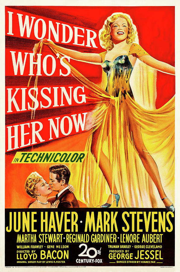 i Wonder Whos Kissing Her Now, With June Haver And Mark Stevens, 1947 Mixed Media